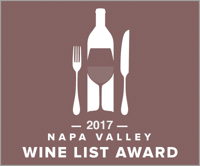 2017 Napa Valley Wine List Award