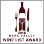 2016 Napa Valley Wine List Award